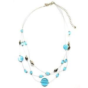 "Lia Sophia ""Blue Lagoon"" Necklace- RETIRED"
